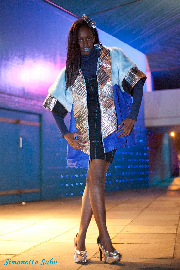 Recycled Material Made High Fashion Coat