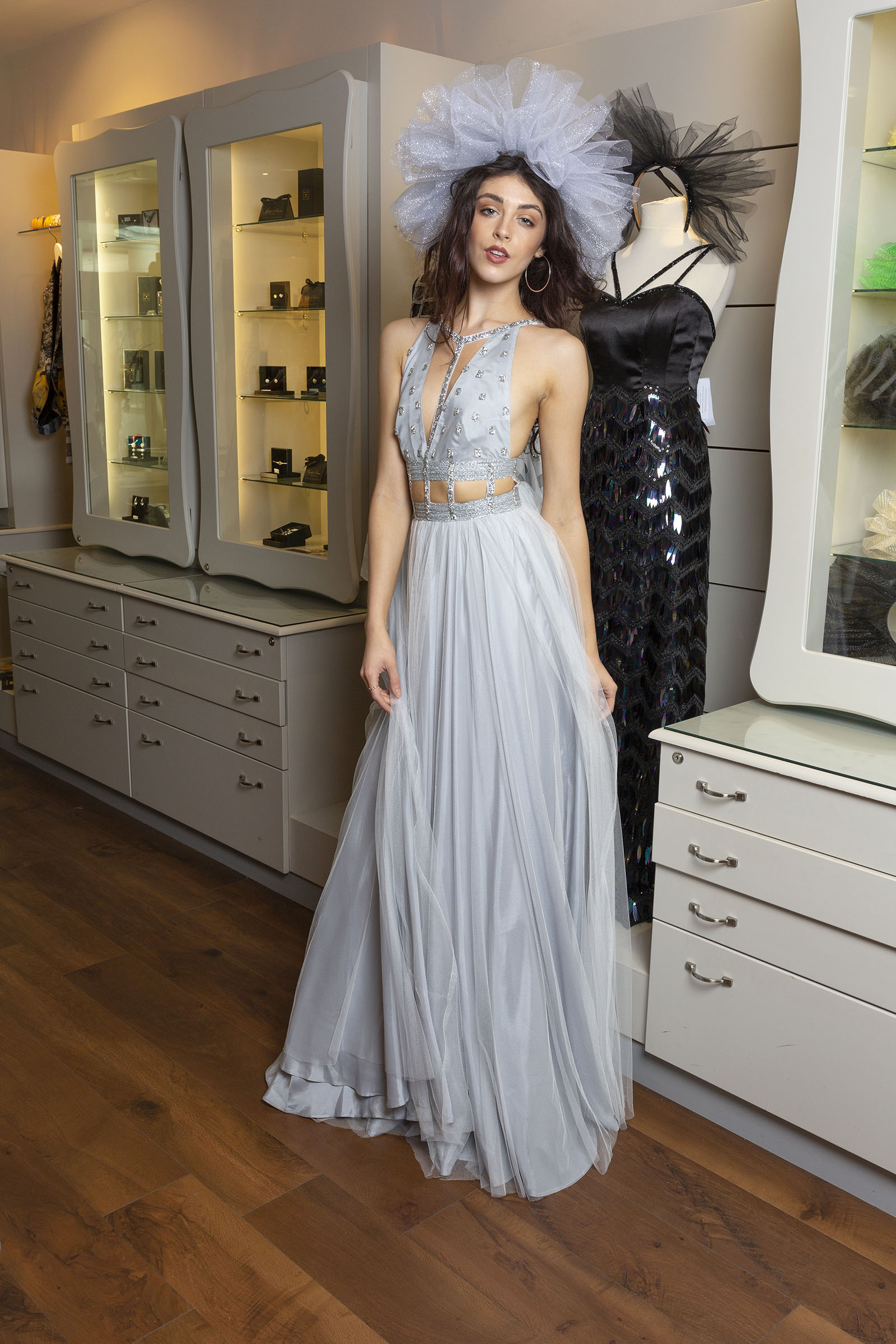 Silver Princess Gown