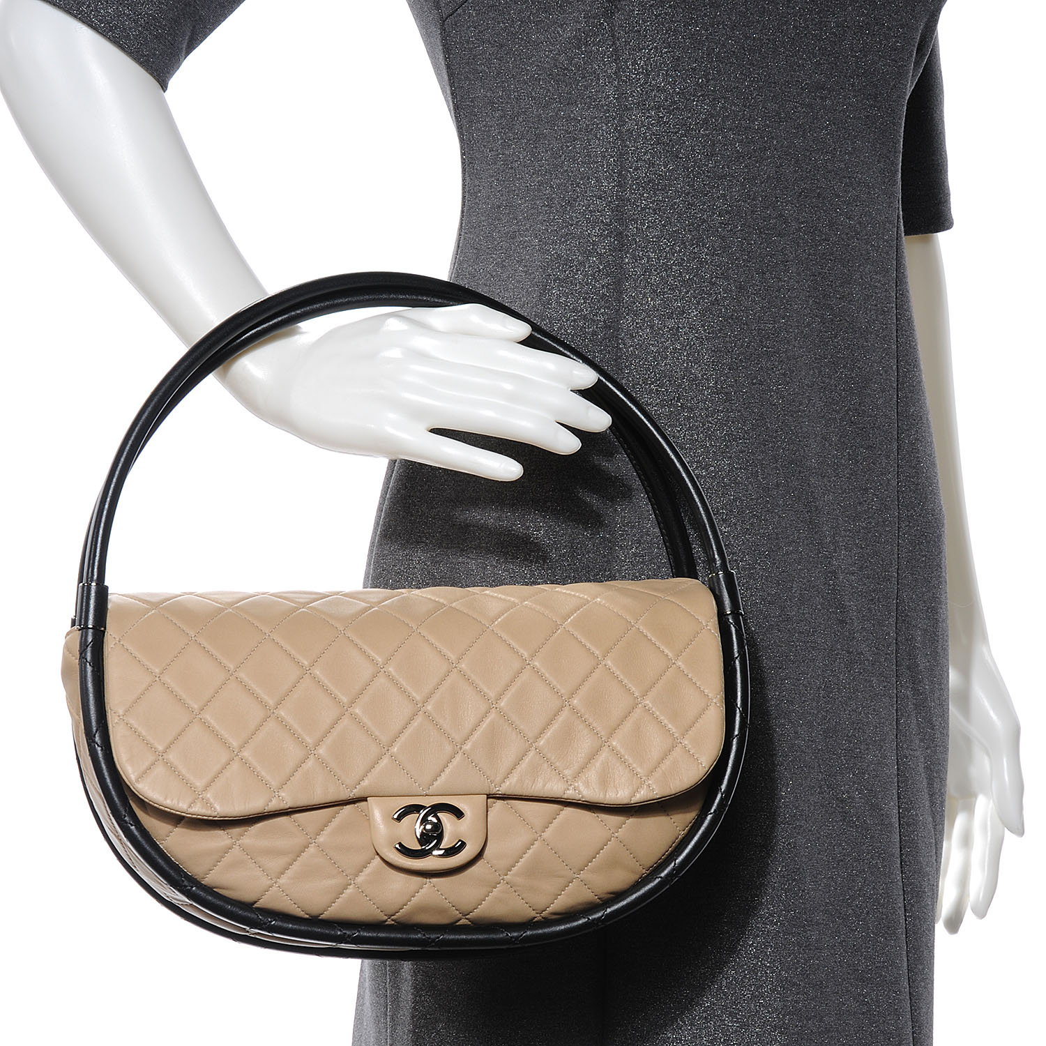 Chanel Beige Hula Hoop Bag